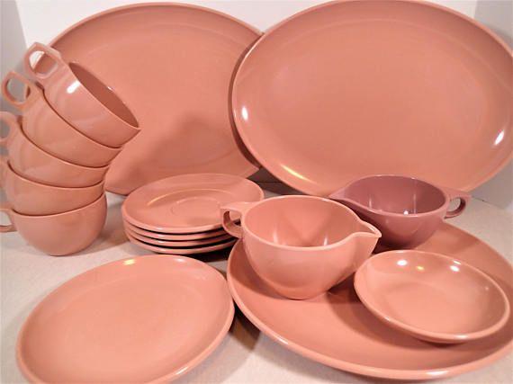 Watertown Pink Melamine dinnerware 16 piece set dinner plate & Watertown Pink Melamine dinnerware 16 piece set dinner plate ...