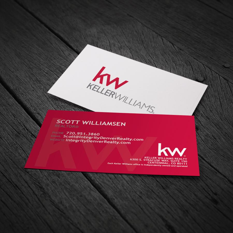Premium Printing For Real Estate Business Cards Name Tags More Real Estate Business Cards Business Card Red Keller Williams Business Cards