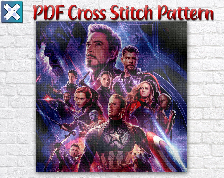 Avengers Cross Stitch Pattern / Marvel Cross Stitch Chart / Movie PDF Cross Stitch Pattern / Movie PDF Cross Stitch / Instant Download PDF