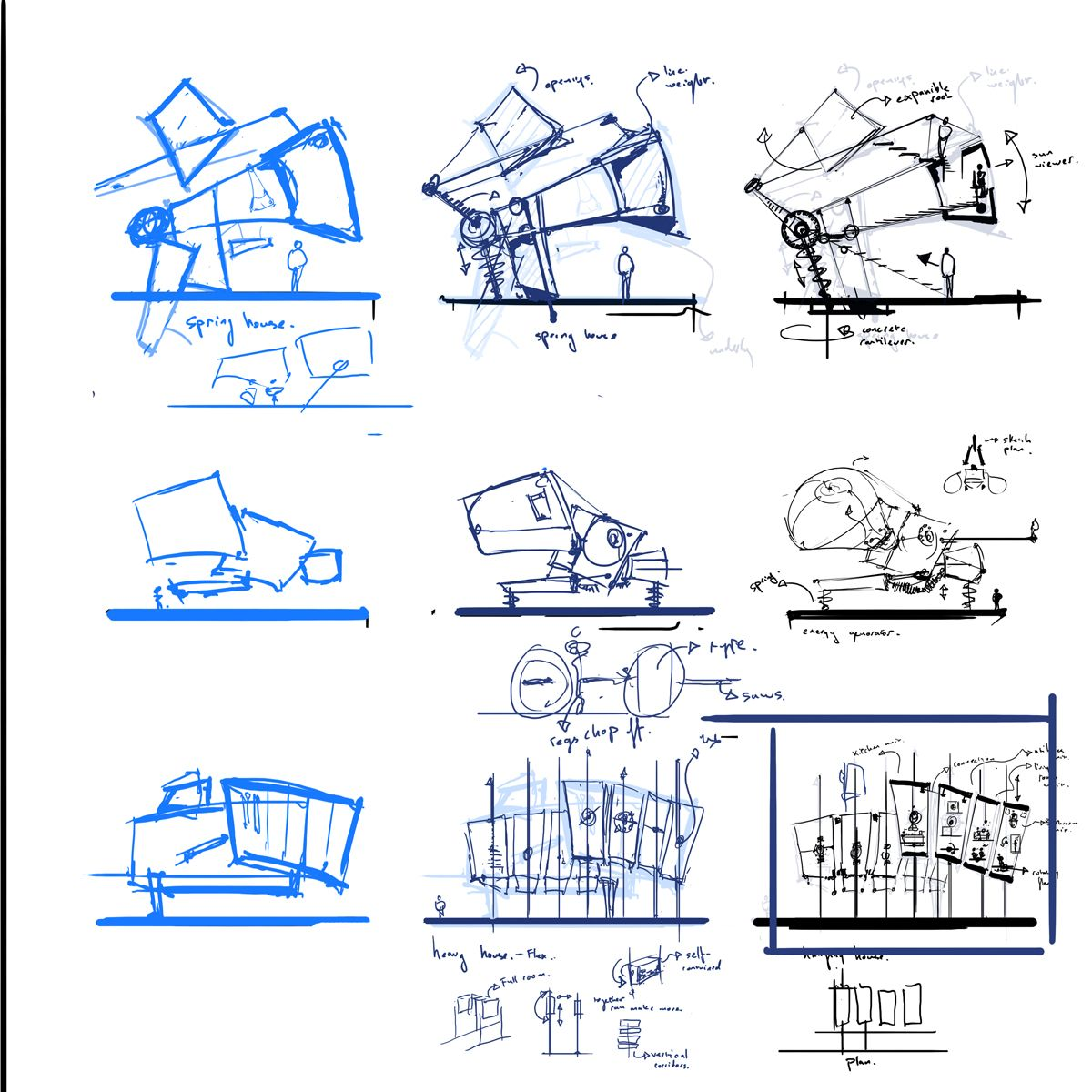 Home Design Ideas For Seniors: Buildup Of Idea Through Orthographic To Perspective