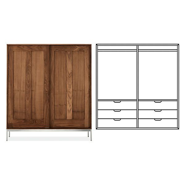 Exceptionnel Room U0026 Board   Linear Anywhere Armoire With Double Short Wardrobes U0026 Six  Drawers