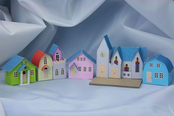 Printable Little Glitter Houses Printable Miniature Putz Church
