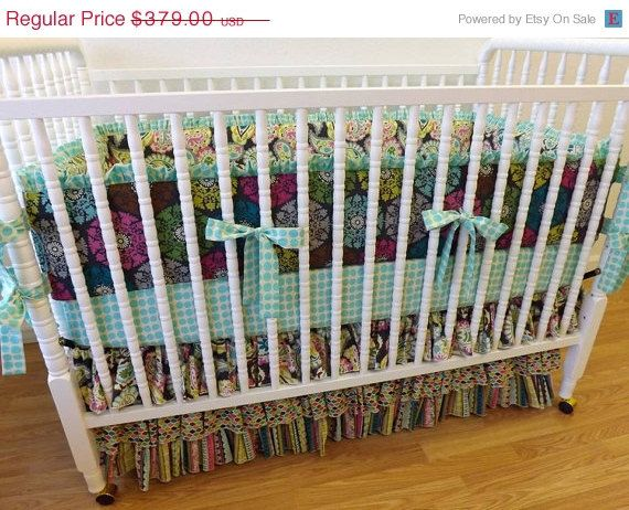 Clearance Sale Ready To Ship 3 Piece Baby Bedding Set Navy