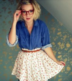 The nerd is a cool look and it is beautiful its a look that you can be yourself in so have fun and be nerdy ;).