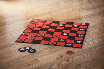 felt checkers rug...MIchael's .com
