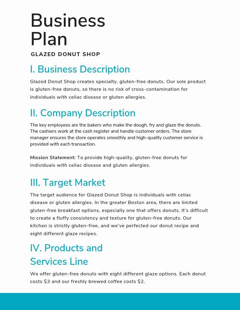30 Sba Business Plan Template in 2020 Business plan