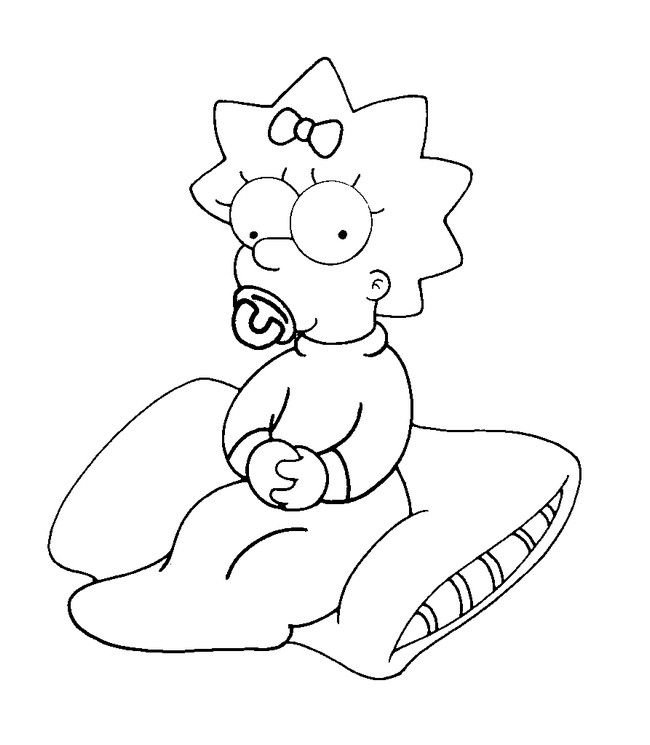 Simpson Dessin A Imprimer Coloring Pages The Simpsons