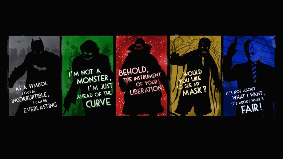 Batman Character Quotes The Dark Knight Trilogy Batman Wallpaper Joker Wallpapers