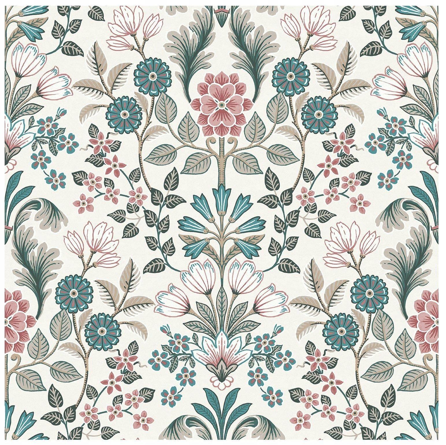 Tapeta Winylowa Kwiaty Retro Tapety Scienne Vintage Flowers Wallpaper Folk Art Flowers Pattern Art