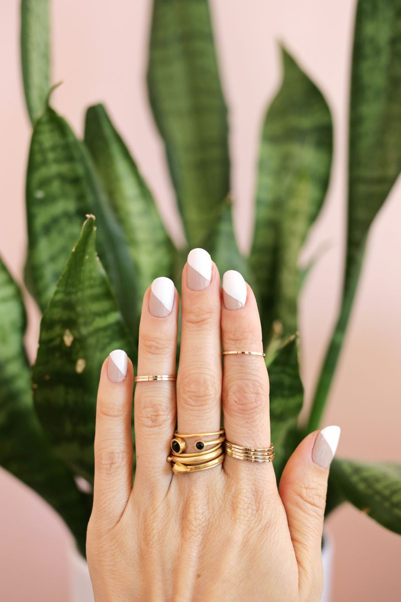 Modern Nude Mani (3 Ways!) (A Beautiful Mess) | Pinterest | Diseños ...