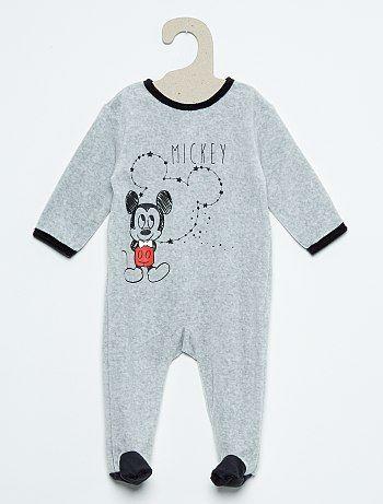 Pijama De Terciopelo Con Estampado De Minnie Gris Bebe Nino