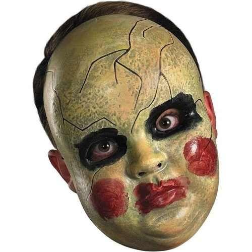 mascara rgida de mueca de terror disfraz halloween