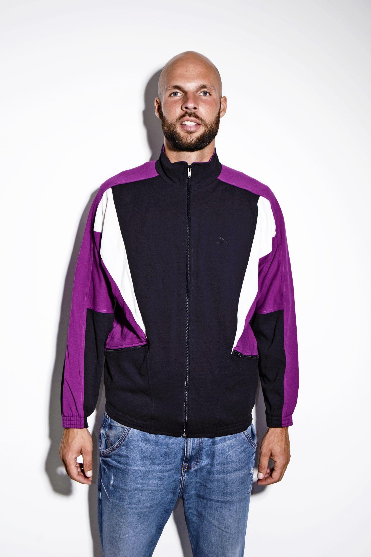 Puma 90s Track Jacket Black Purple Vintage Sports Clothing Vintage Clothing Stores Vintage Sportswear