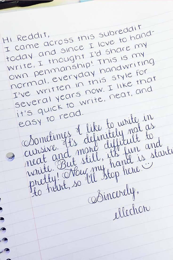 9 Amazing Examples of Perfect Handwriting  Perfect handwriting
