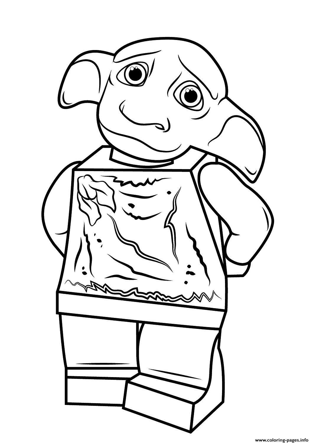 Print Lego Harry Potter Dobby Coloring Pages Harry Potter Coloring Pages Harry Potter Colors Dobby Harry Potter