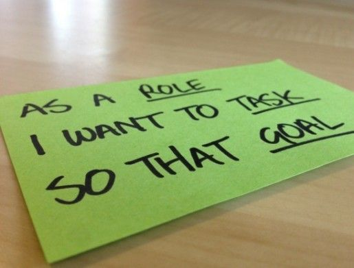 A user story card is a simple tool for focusing attention on user ...