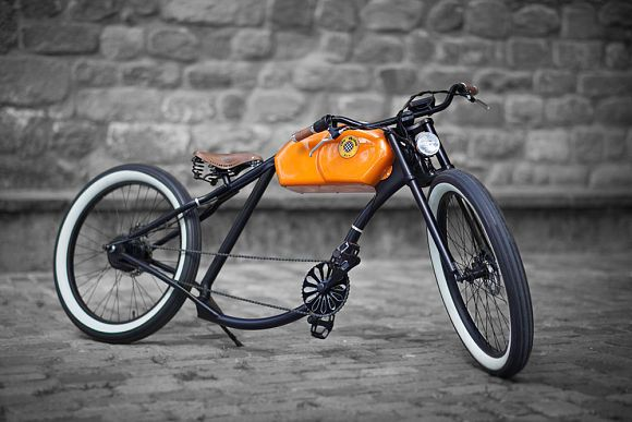 Otocycles Retro-E-Bike Chopper Motorrad