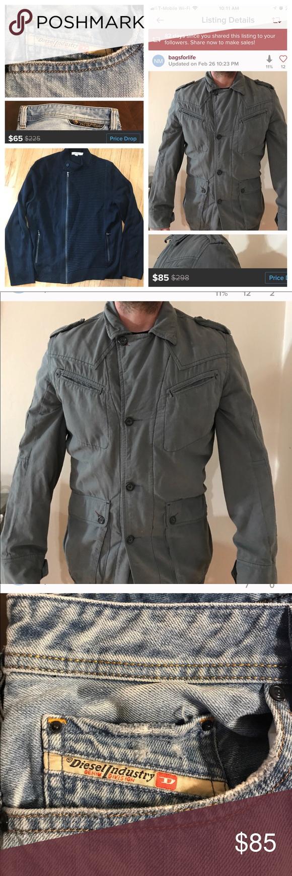 SALE THREE ITEMS Diesel Jacket size Large, Diesel Jeans36W
