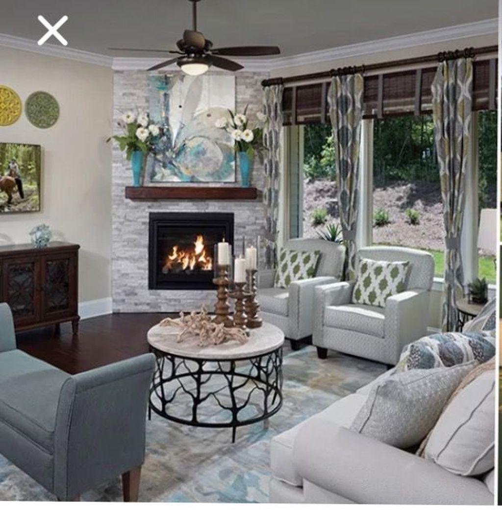 47+ Furniture arrangement with a corner fireplace in a cabin info