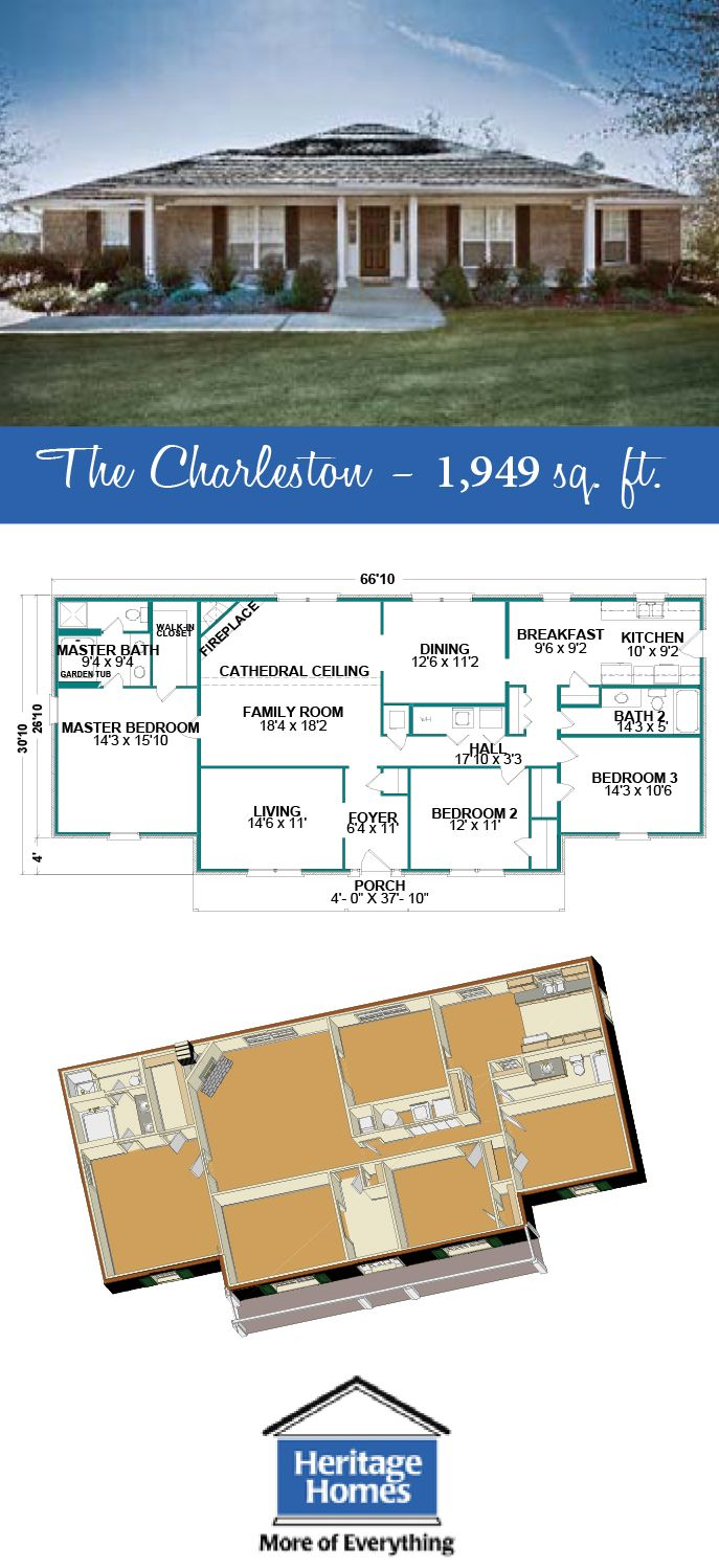 1 900 2 000 Sq Ft Floor Plan The Arlington Is A 1 949