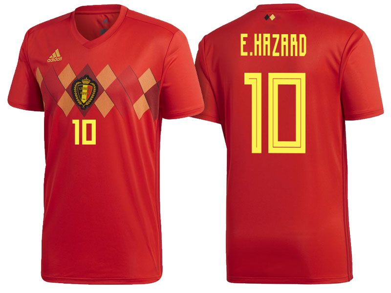 quality design e9ab9 d8584 Belgium 2018 World Cup Home Jersey eden hazard | 2018 ...