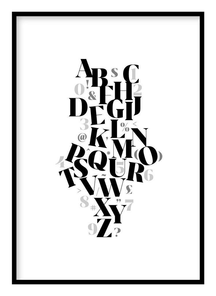 Letters numbers poster in 2020 quote prints letters