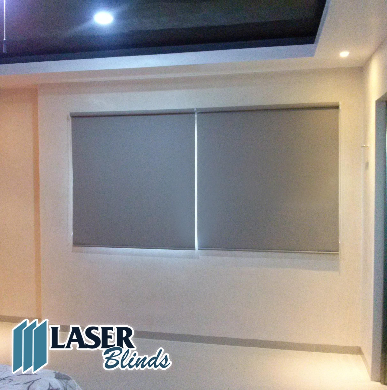 Persiana enrollable blackout color gris laser blinds for Decoracion cortinas