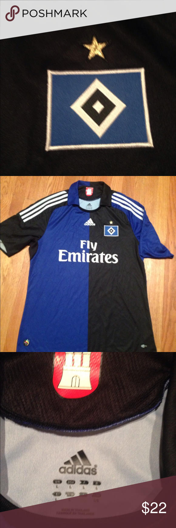 Adidas collared soccer jersey. Adidas size large 648c9e794