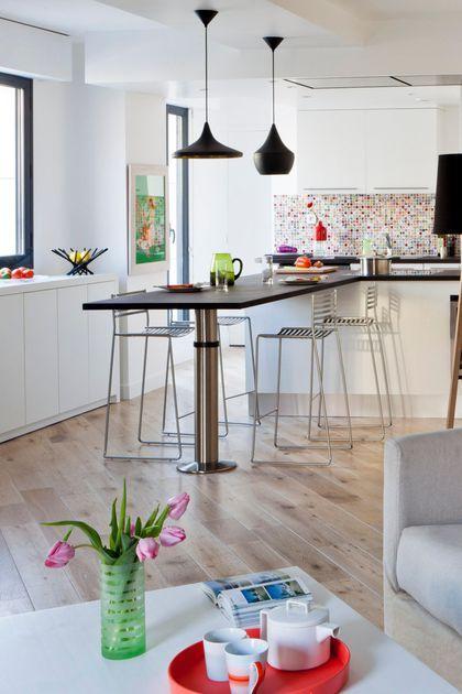 Appartement Paris avec cuisine ouverte sur le salon