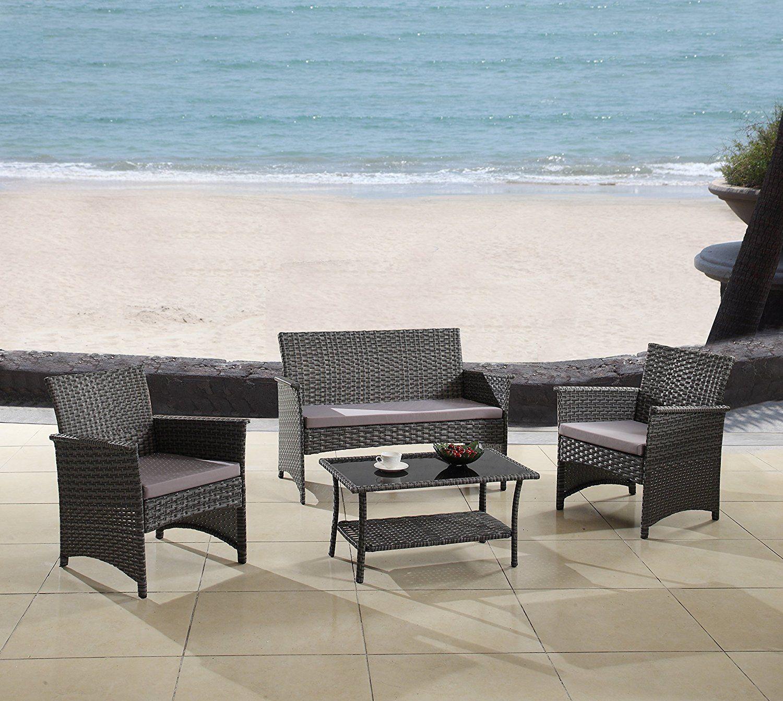 Amazon Com Modern Outdoor Garden Patio 4 Piece Seat 400 x 300