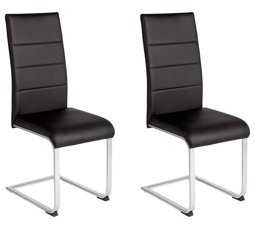 Buy Argos Home Henrik Pair Of Cantilever Chairs Black Dining