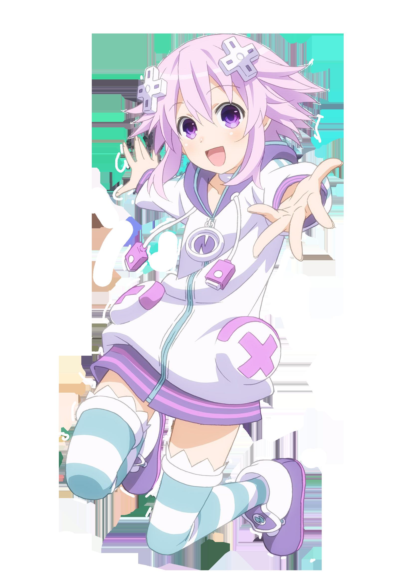 Neptune Hyperdimension Neptunia Anime Maid Cute Anime Wallpaper Anime School Girl
