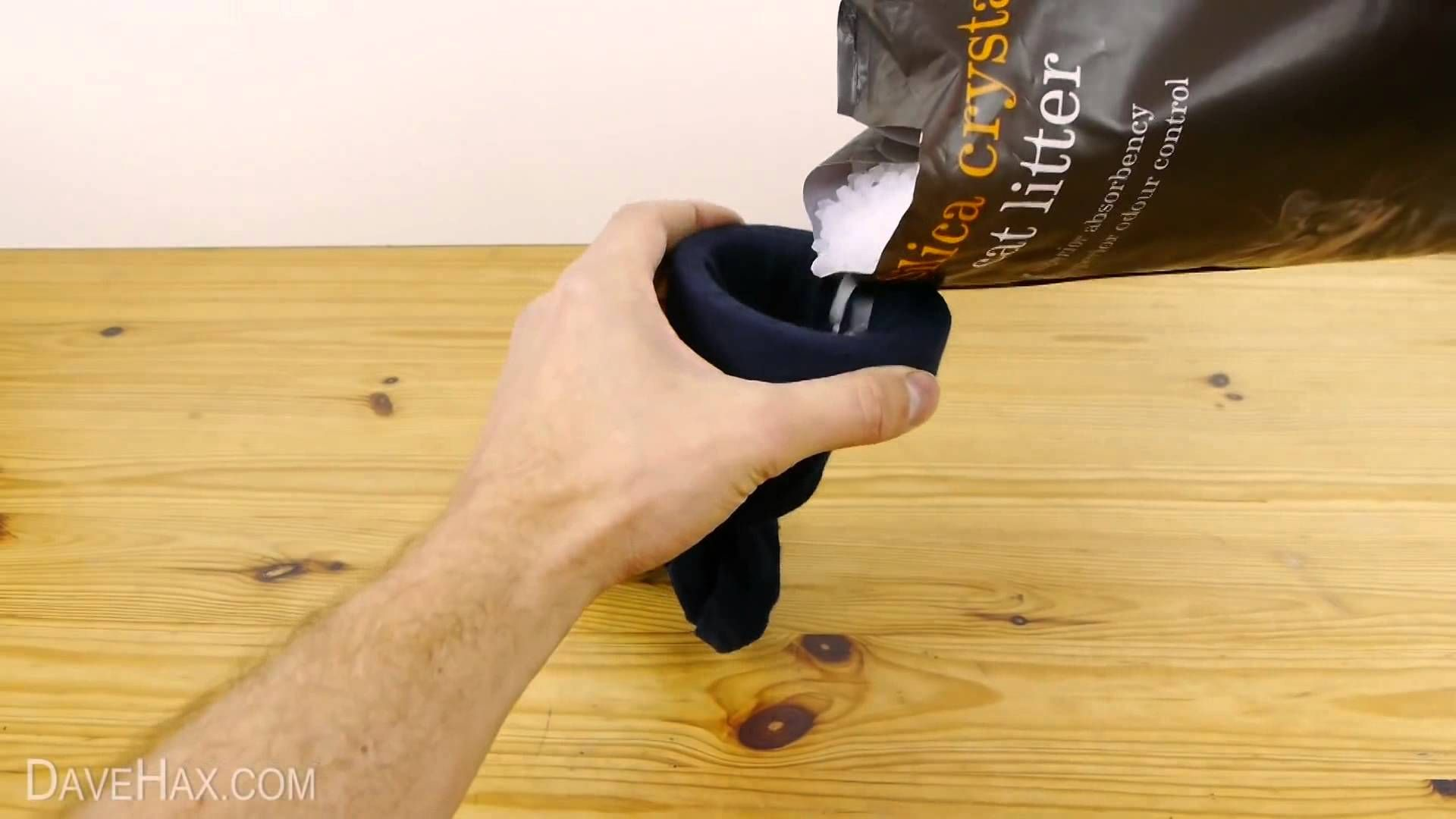 He Poured Kitty Litter Into A Sock. Why? The Reason Will