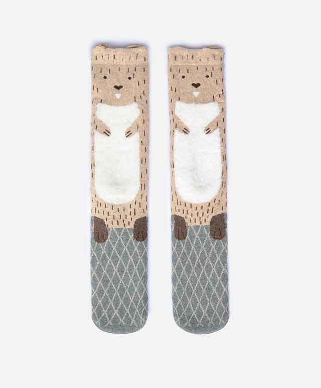 Long beaver socks -   Autumn Winter 2016 - Oysho United Kingdom