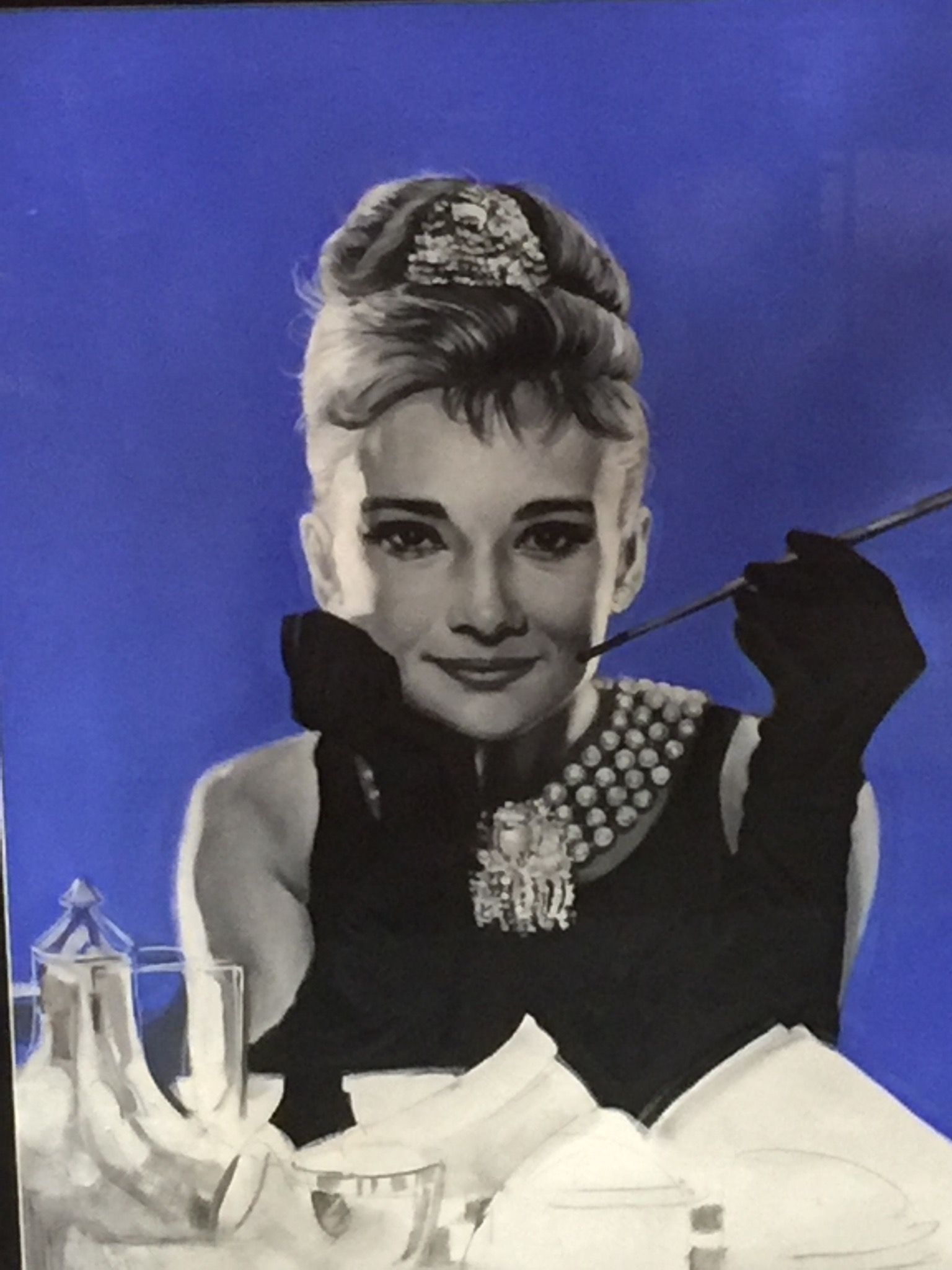 ' Audrey' by Alex Dragovic, oil on canvas £850