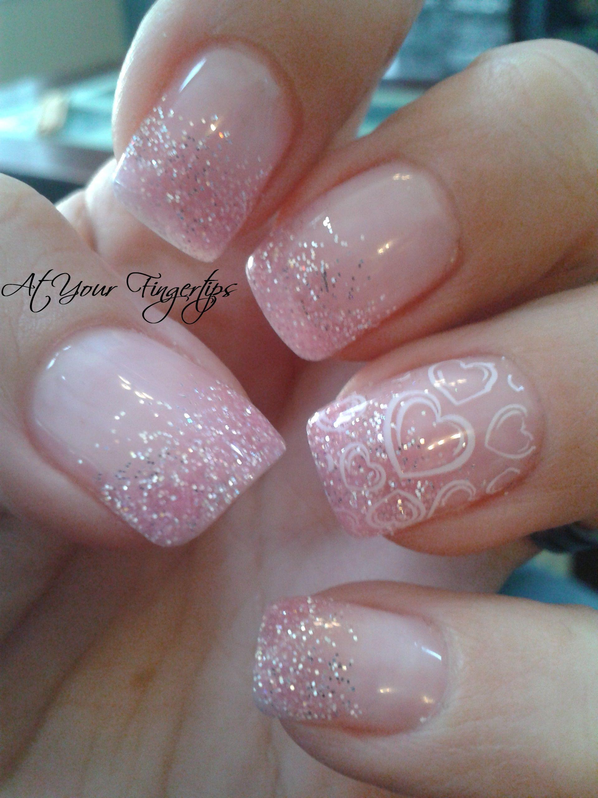 gelnägel designs 5 besten | Diamond, Glitter gel nails and Glitter gel