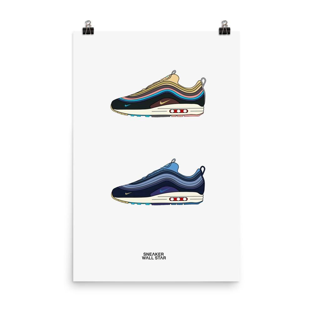 Poster Air Max 1/97 Sean Wotherspoon V1 & V2 – Sneakers Wall Star