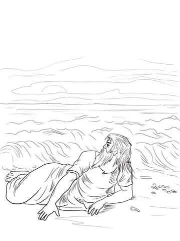 Jonah Vomited Out Coloring page | Bible | Pinterest | Dibujo