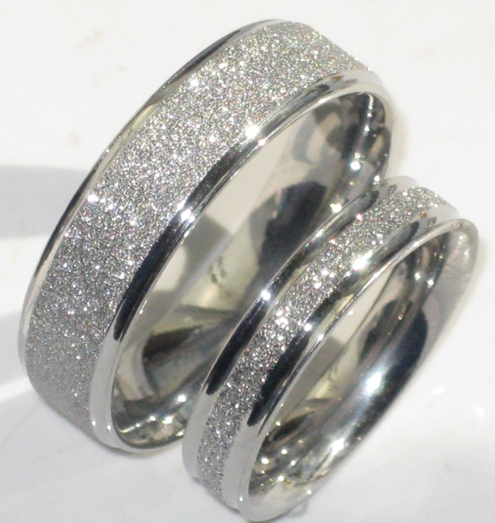 Wedding Rings On Line Mens Or Womens Sparkleblast 6mm 4mm Sparkle Wedding Ring