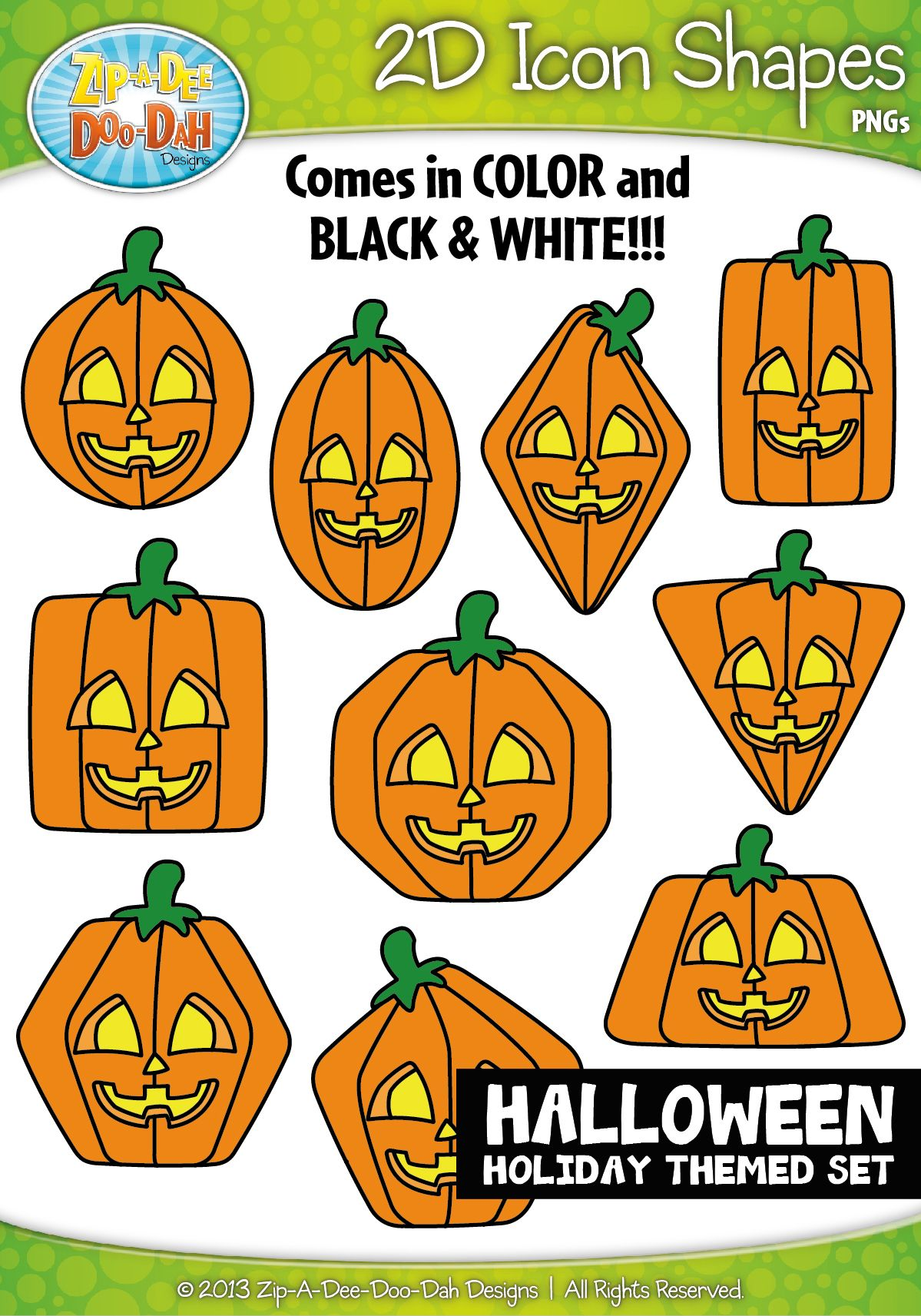 Halloween 2d Icon Shapes Clipart Zip A Dee Doo Dah