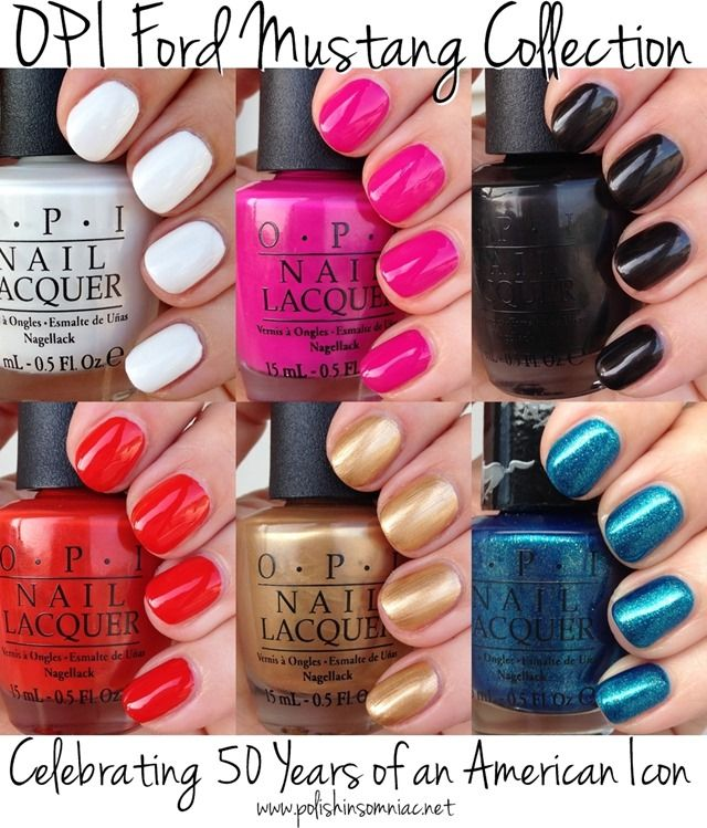 Opi Mustang Collection Nail Polish