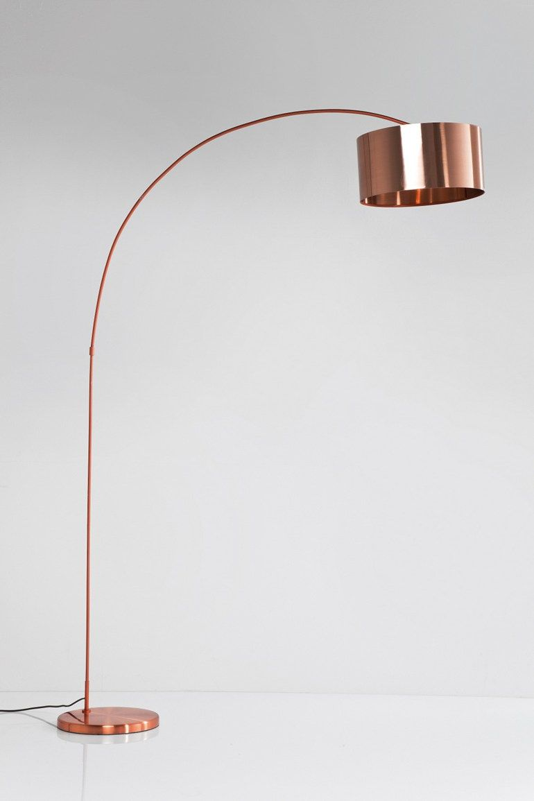 Contemporary Style Arc Lamp Gooseneck Copper Kare Design