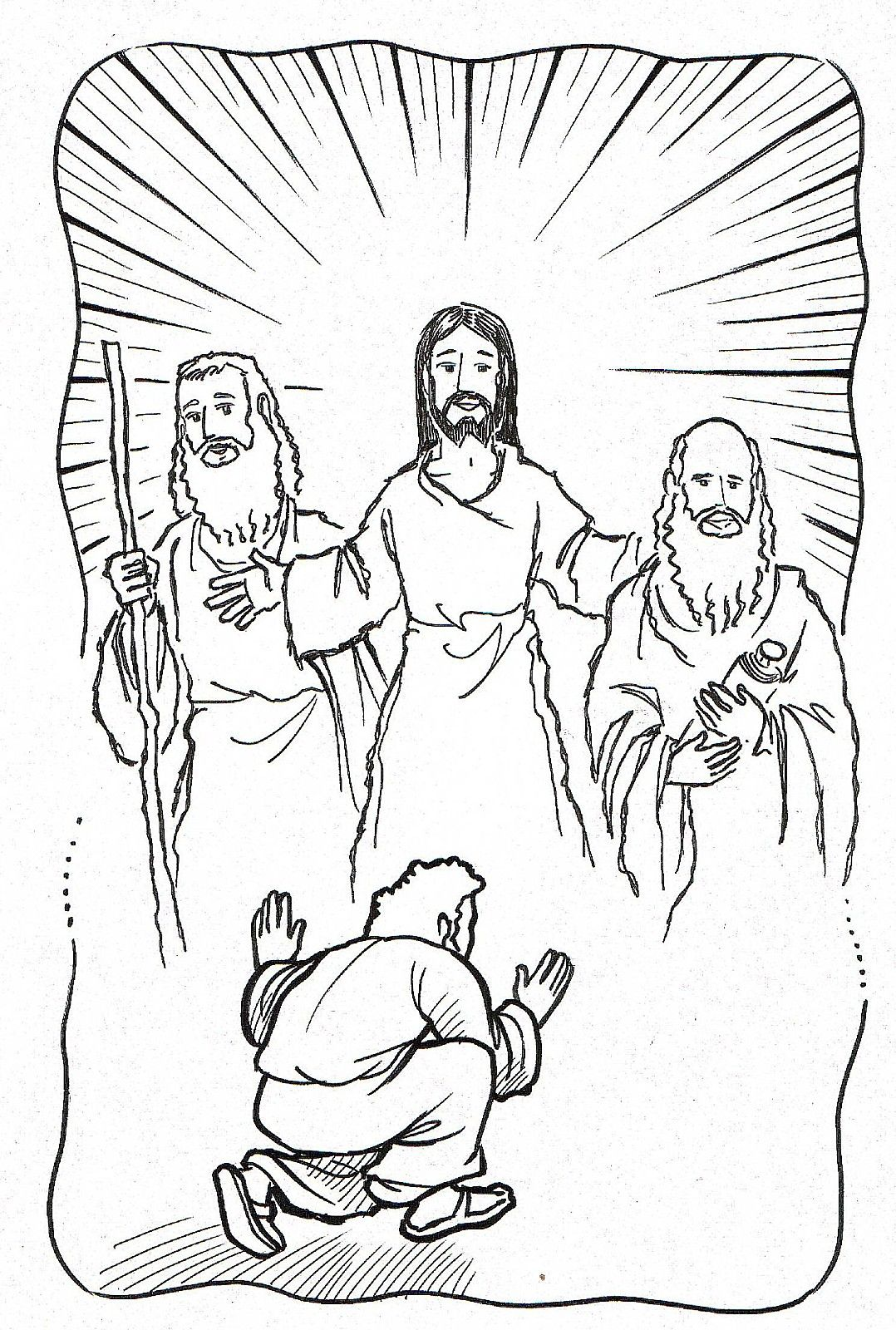 jesus coloring pages catholic church - photo#12