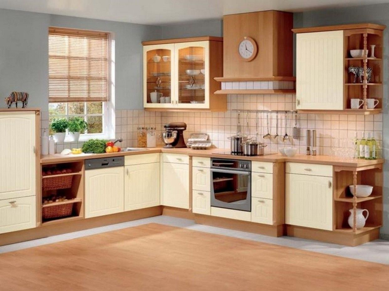 Wooden Kitchen Design Ideas Part - 34: Brown And White Kitchen Cabinets Design Ideas
