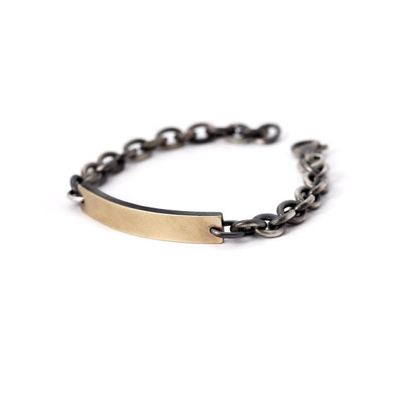Luis Mens Bracelet Personalized With Name 14k Gold Name Plate