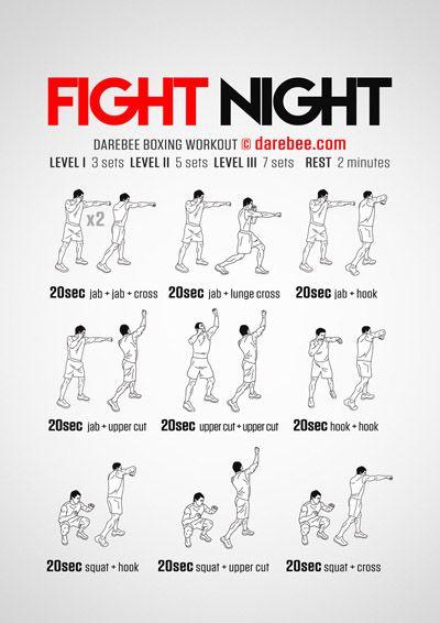 Fight Night Workout Night Workout Boxing Workout Boxing Training Workout