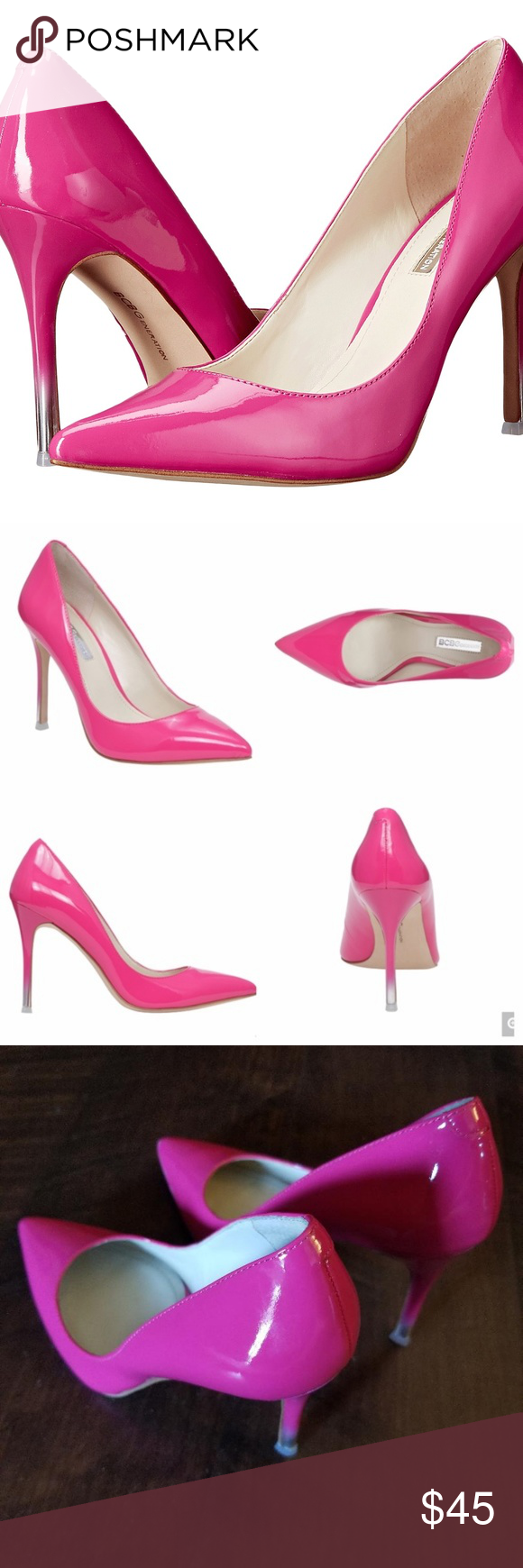 2f2f0cae6f0dc BCBG Hot Pink Pumps BCBGeneration Hot Pink Pumps Style: BG - Treasure  Color: Flash Pink Material: Patent Size: 5.5 M Great Condition Ready to  ship out in ...