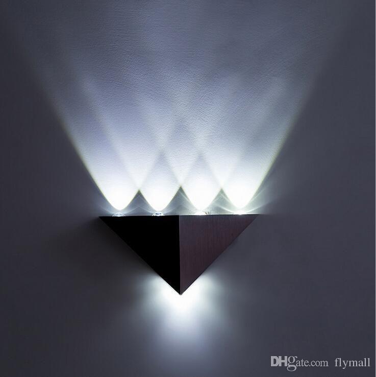 Choosing Wholesale 5w Triangle Led Wall Light Sconces Mirror Lamp Backlight Decorative Llight L Led Wall Lights Triangle Wall Lights Led Ceiling Light Fixtures