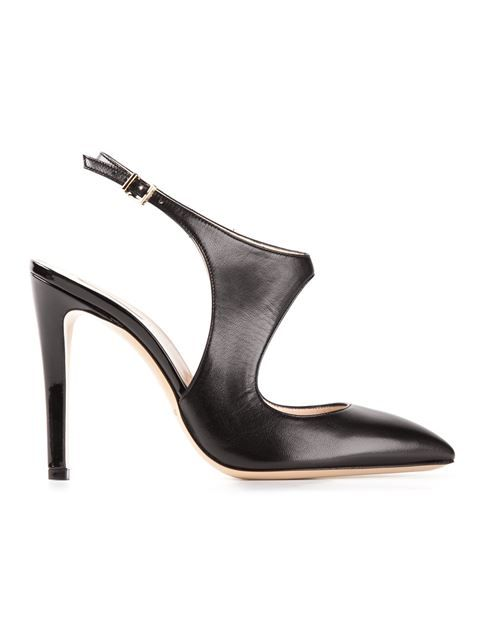 289d5e91e99a Shop Giorgio Armani cut out pumps in Il Bacio Di Stile from the world s  best independent boutiques at farfetch.com. Over 1000 designers from 60  boutiques in ...
