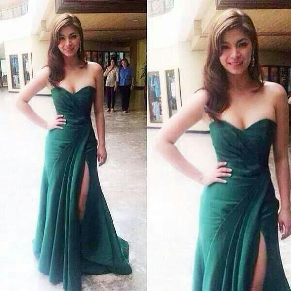3dcf530d7e Angel Locsin | gorgeous n sexy in 2019 | Strapless dress formal ...